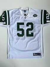 Authentic David Harris 2008 New York Jets Reebok NFL Equipment Jersey White