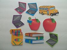 3D-U Pick - School Bus Laptop Apple Books  Scrapbook Card Embellishment 1819