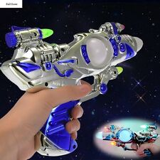 Space Children With Sound Super Laser Multi-Colors Plastic Toys Spinning Kids