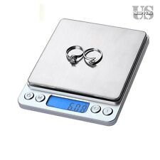 3000/500g Stainless Steel Digital Jewelry Pocket Gold Gram Weight Scale Balance