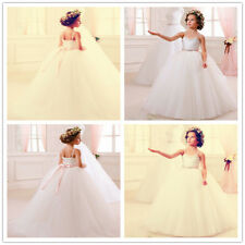Flower Girl Dress Wedding Birthday Prom Pageant Party puffed tulle gift present
