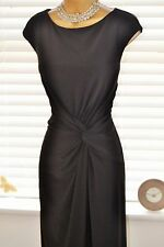 Stunning & Flattering ⭐️ Linea House of Fraser ⭐️ Black Ruched Dress Size 16