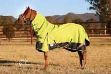 LOVE MY HORSE 600D 5'0 - 6'6  600D Waterproof Rainsheet Combo Rug Lime / Navy