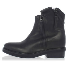 CINZIA ARAIA Woman Black Leather Cowboy Boots Made in italy