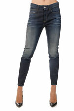 GUCCI New Woman Dark Blue Stretch Denim Pants Jeans Made in Italy
