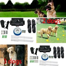 2 Dogs In Ground Electric Dog Fence Anti Escape Collar Ebay