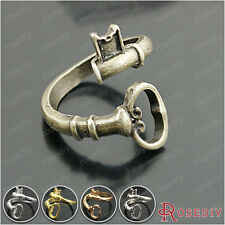 10PCS 22MM,inside:18MM Alloy Curling Key Shape Rings Fashion Jewelry 27031
