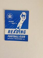 Reading - 1960 to 1965  Football Programmes - Various Fixtures