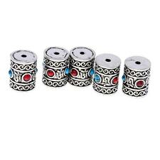 5pcs Tibetan Silver Big Tube Charms Spacer Beads Pendants 13x15mm 16 x 20mm