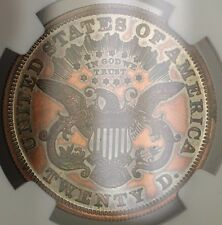 1875 $20 Liberty Double Eagle Proof Pattern Coin  J-1448 NGC PF-61 WW Not Gold
