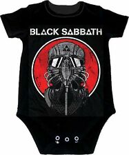 Black Sabbath Mask Never Say Die Baby Romper T-Shirt All Sizes New