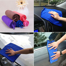 5 Absorbent Microfiber Towels Soft Car Wash Polish Drying Cleaning Cloth 25*25cm