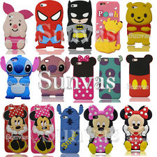 3D Cartoon Cute Soft Silicone Phone Back Case Cover Skin For Apple iPhone Phones