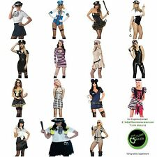 Womens Fancy Dress Sexy Costume Police Cops & Robbers UK Hen Party Outfits XS-XL