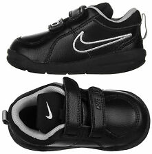 Nike Pico 4 Toddler Infants Boys Black Velcro Leather Trainers Shoes New Boxed