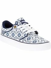 DC White-Navy Mikey Taylor Vulcanized Womens Low Top Shoe
