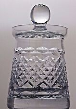 Tutbury Crystal Cut Glass Jam/Honey/Mustard Serving Pot Jar & Lid