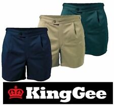 PACK OF 4 KING GEE  MENS DRILL STUBBY LEG UTILITY WORK SHORTS + SIDE TAB K07010