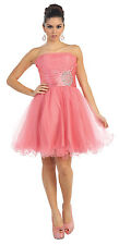 TheDressOutlet Short Homecoming Dress Cocktail Prom Formal