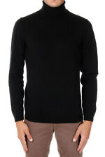 BOSS HUGO BOSS New Men black Turtle neck Cashmere Sweater Jumper NWT