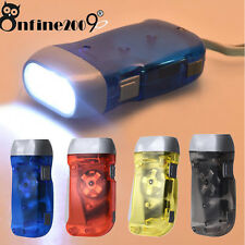 Wind up Hand Pressing Crank Emergency Camping Outdoor LED Flashlight Torch Light