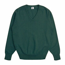 Community Clothing Men's Light Green Wool V-Neck Jumper