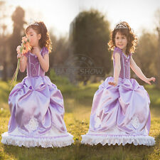 HOT!!Disney party dresses Kids Girls Dress Elsa Frozen  costume Princess Cosplay