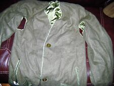 1950's US ARMY Issue Korean WAR WOOL TRENCHCOAT LINER. LONG LARGE.
