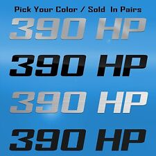 390 HP Horsepower Decal Graphic Fits Chevrolet SSR, GM TURBO-JET 390, Saleen 302