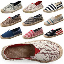 Adults Unisex flat slip on espadrilles pumps canvas plimsoles shoes size 4.5-10