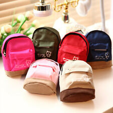 Mini Small Cute Women Lady Girl Pouch Coin Purse Backpack Canvas Bag Wallet CNA