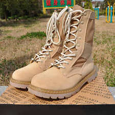 Mens Desert Millitary Ankle Boots Cargo Work Army Shoes High Top Tactical Casual