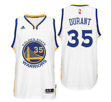 Golden State Warriors #35 Kevin Durant Basketball Swingman Jersey White/Blue