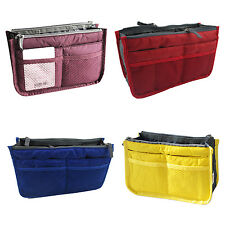 Dual Bag Organizer Mp3 Phone Cosmetic Book Storage Nylon Bag Handbag Purse-LW