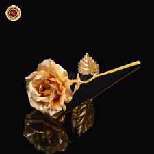 Creative Holiday Gift 24K Gold Plated Rose w/ Free Gift Box Valentine Christmas