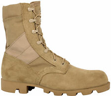 McRae Mens Desert Tan Suede/Cordura Hot Weather Panama Military Boots