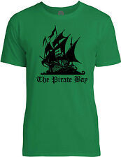 Big Texas The Pirate Bay (Black) Mens Fine Jersey T-Shirt