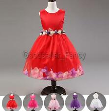 Flower Girl Dress Party Wedding Bridesmaid Tutu Tulle Gown For Kid Toddler Baby