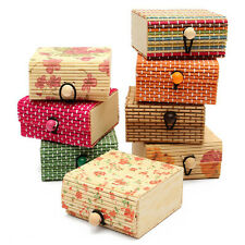 New Bamboo Wood Storage Organizer Jewelry Beads Boxes Wooden Trinket Gifts