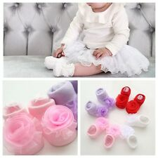 Lovely Baby Girl Princess Lace Flowers Infant Toddler NewBorn Soft Cotton Socks