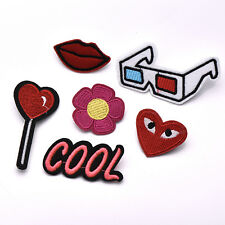 Cartoon Embroidery Brooch Pin Fabric Sticker Iron On Patch Clothes Applique