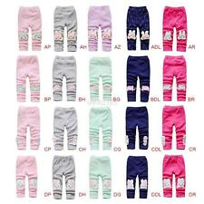 Kids Girls Baby Lovely Cartoon Tight Pants Infant Stretch Warm Leggings Trousers