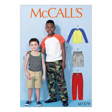 McCalls Sewing Pattern M7379  Childrens/Boys Tops, Cargo Shorts & Pants