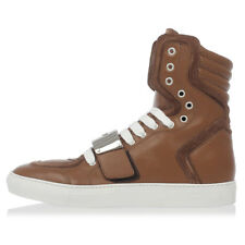 DSQUARED2 D2 New men High leather Sneakers Brown CAMBRIDGE Made in Italy