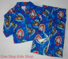 PAW PATROL Toddler Boys 2T 3T 4T Flannel Pjs Set PAJAMAS Shirt Pants Marshall