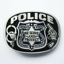 Men Belt Buckle Police Sign Belt Buckle Gurtelschnalle Boucle de ceinture