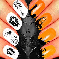NAIL ART WATER STICKERS TRANSFERS DECALS WRAPS FLOWER SUGAR SKULL HALLOWEEN