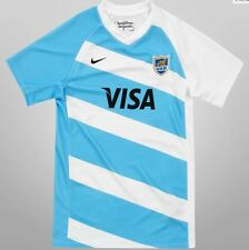 Kids Los Pumas UAR Argentina Nike 2015 Rugby Home Jersey Boys Version