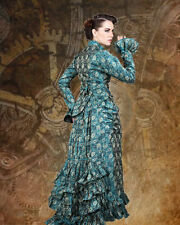 Victorian Steampunk Duchess Judith 2-pc Blue Dress s, m, l, xl  ***SALE****
