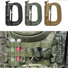 Tactical Grimloc Safety Safe Buckle MOLLE Locking D-ring Carabiner Climbing CNUS